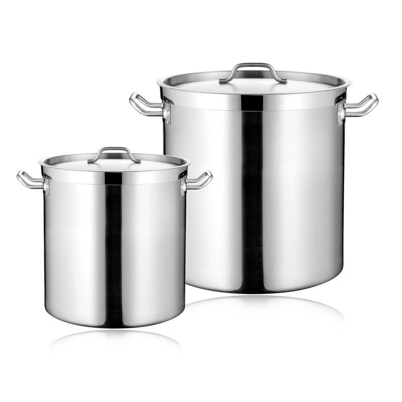 COMMERCIAL SS STOCK POT WITH SANDWICH BOTTOM & LID (05STYLE)