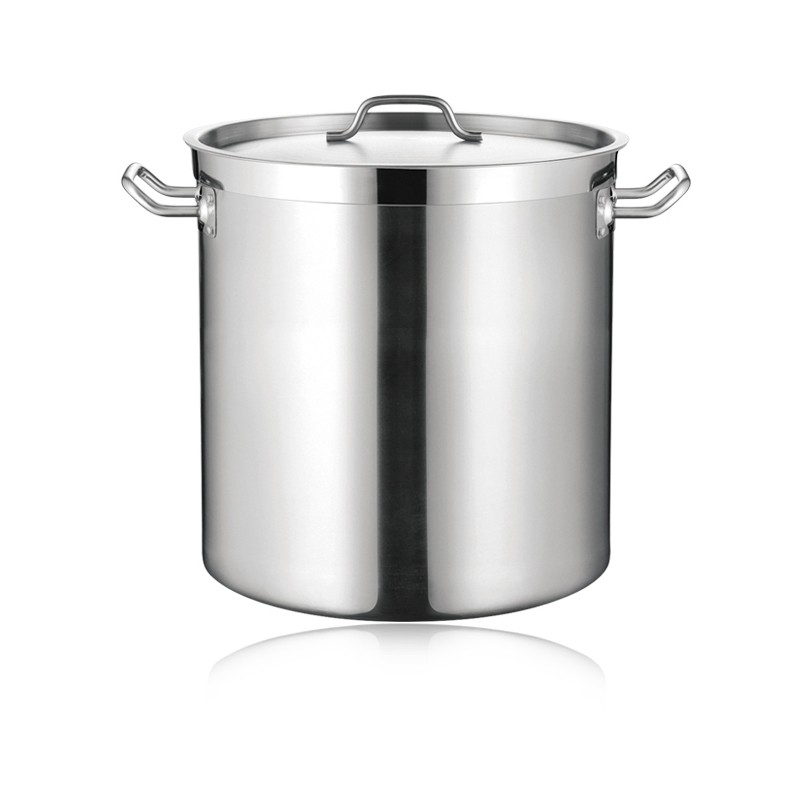 SS STOCK POT WITH THICK BOTTOM & LID