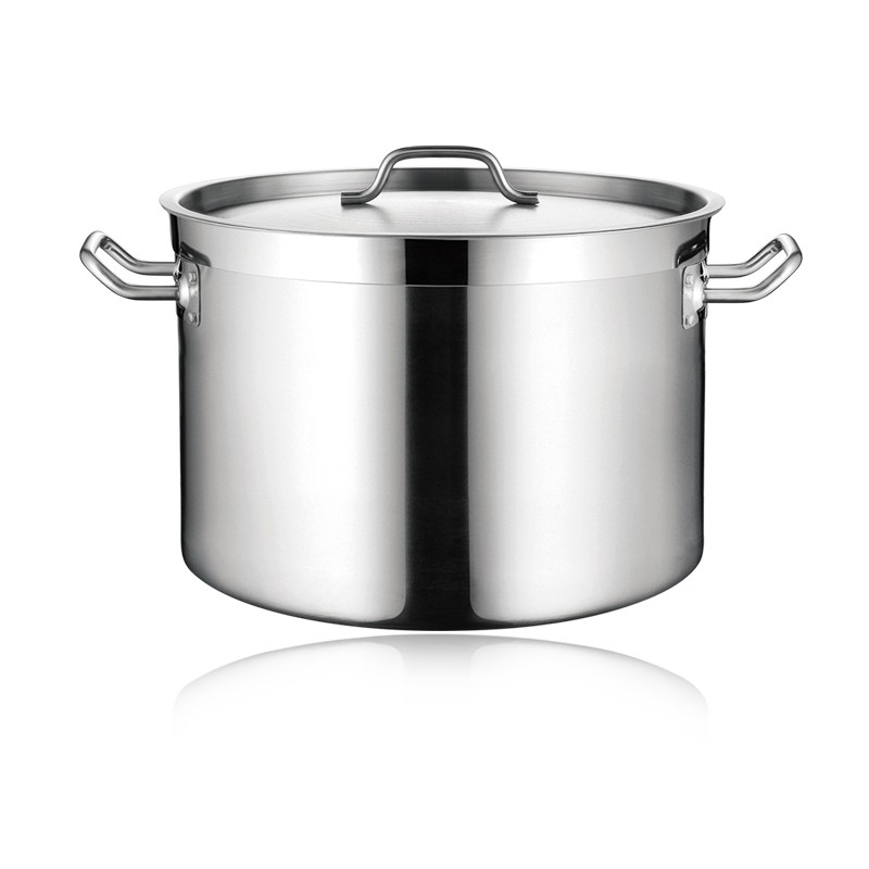 SS SAUCEPOT WITH THICK BOTTOM & LID