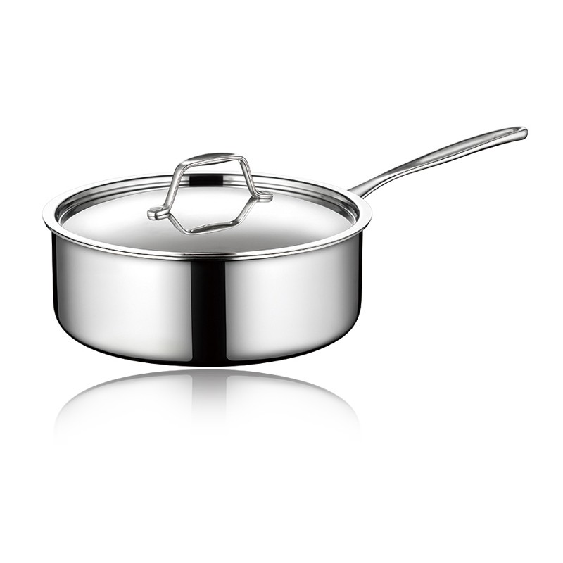 TRI-PLY SAUCEPOT WITH LID(LONG HANDLE)